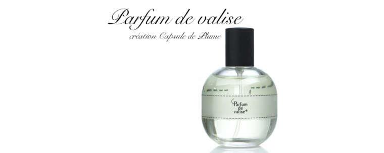 Flacon Capsule de Plume parfum de valise