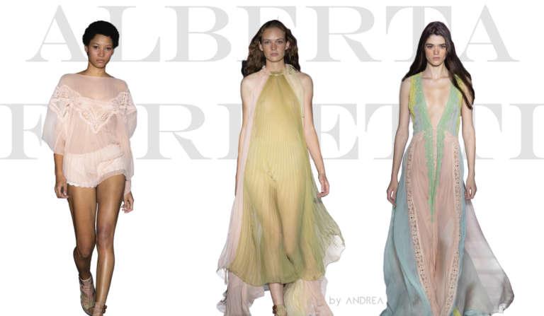 Silhouette du défilé Alberta Ferretti Milan Fashion Week